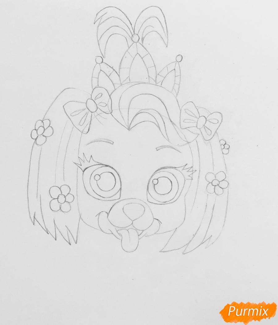 Рисуем собачку Дейси питомца Рапунцель из мультфильма Palace Pets - фото 4