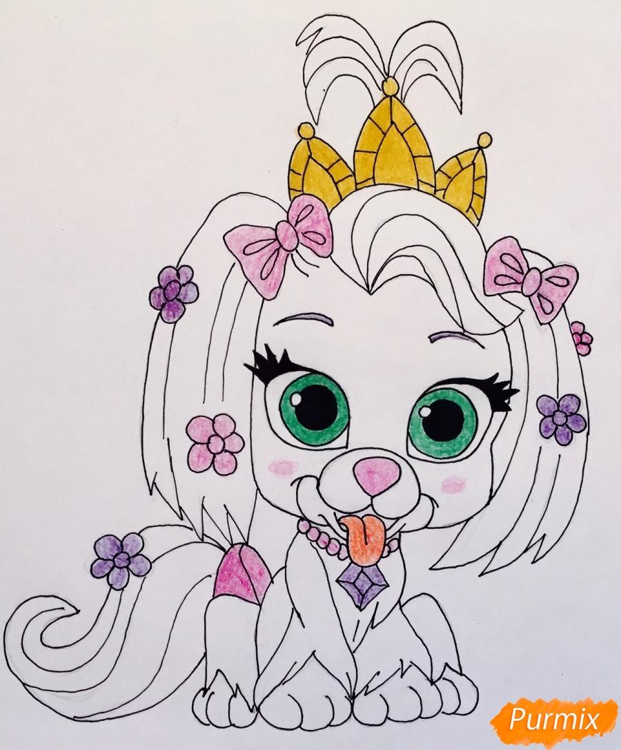 Рисуем собачку Дейси питомца Рапунцель из мультфильма Palace Pets - фото 8