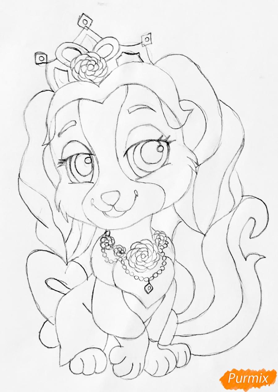 Рисуем собачку Крошку питомца Бель из мультфильма Palace Pets - фото 7