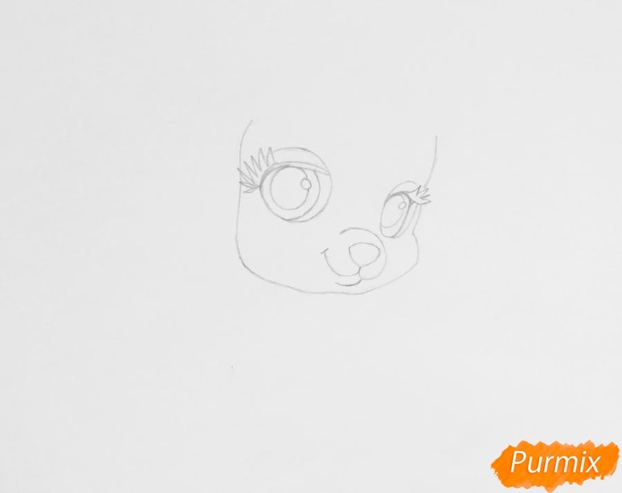 Рисуем собачку Тыковку питомца Золушки из мультфильма Palace Pets - фото 2