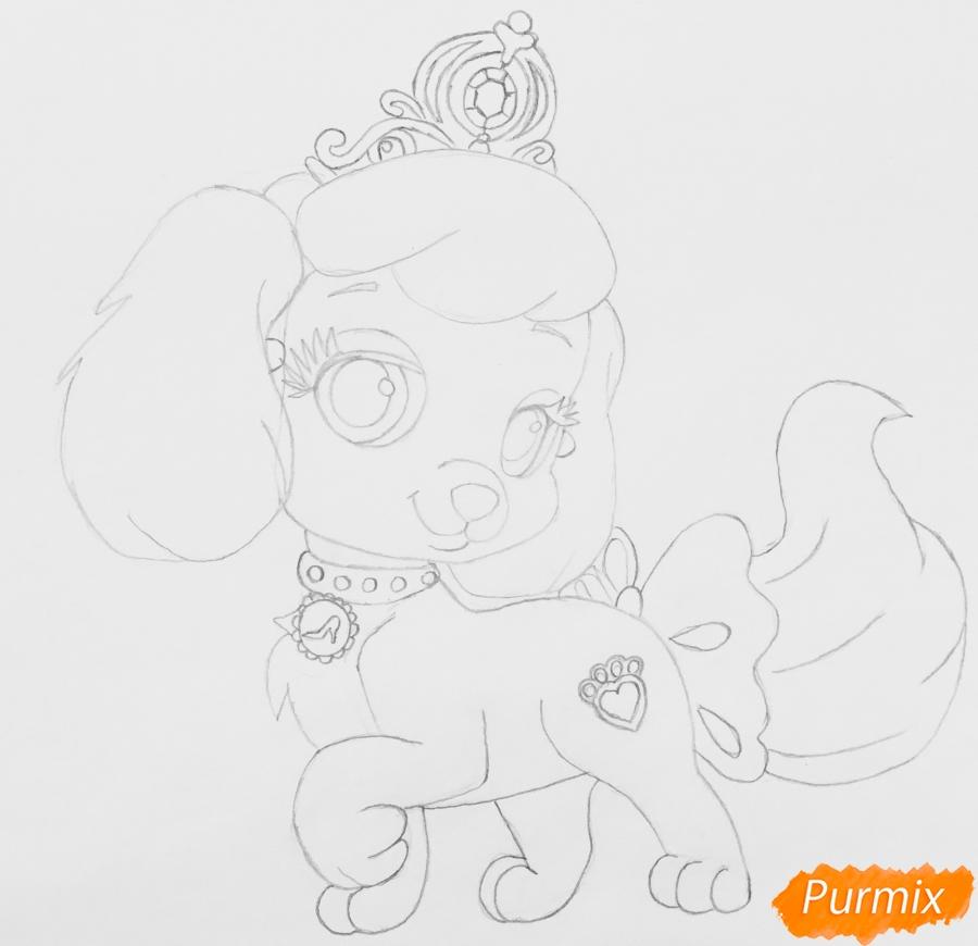 Рисуем собачку Тыковку питомца Золушки из мультфильма Palace Pets - фото 6