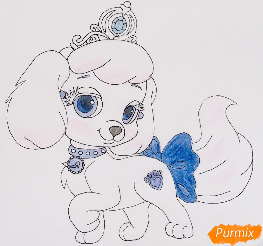 Рисуем собачку Тыковку питомца Золушки из мультфильма Palace Pets - фото 8