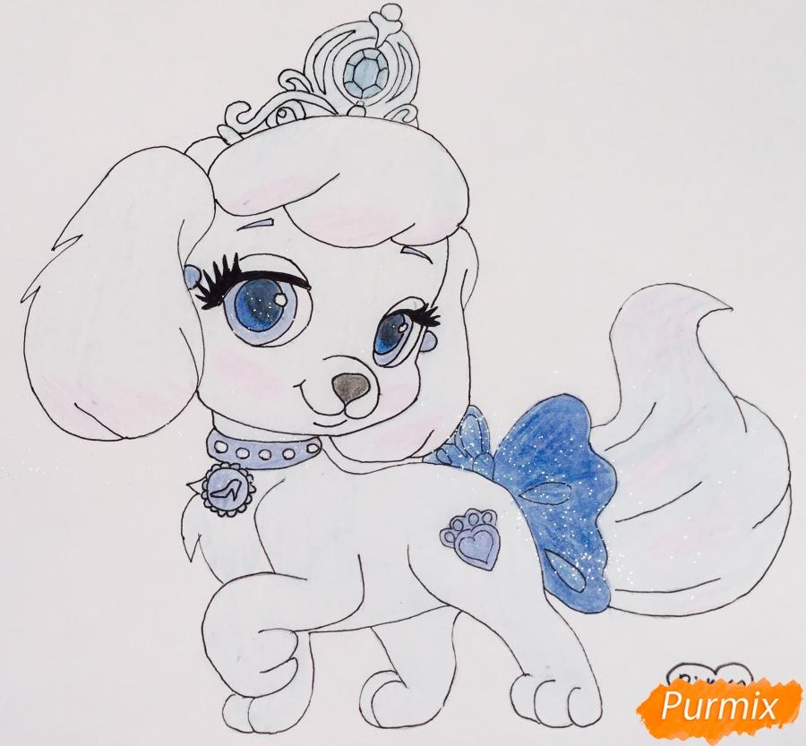 Как нарисовать собачку Тыковку питомца Золушки из мультфильма Palace Pets карандашом поэтапно