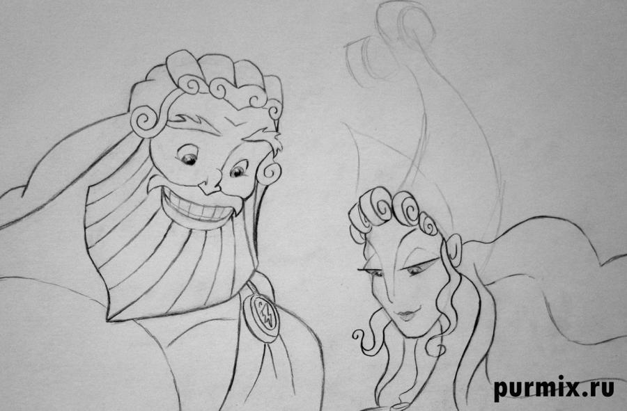 Как нарисовать геру жену поэтапно