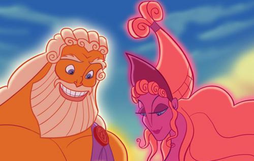 Рисуем Зевса и Геру из Геркулеса
