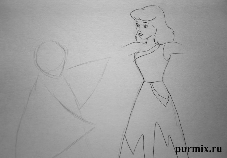 Как нарисовать Золушку и Фею крестную из Золушки карандашом