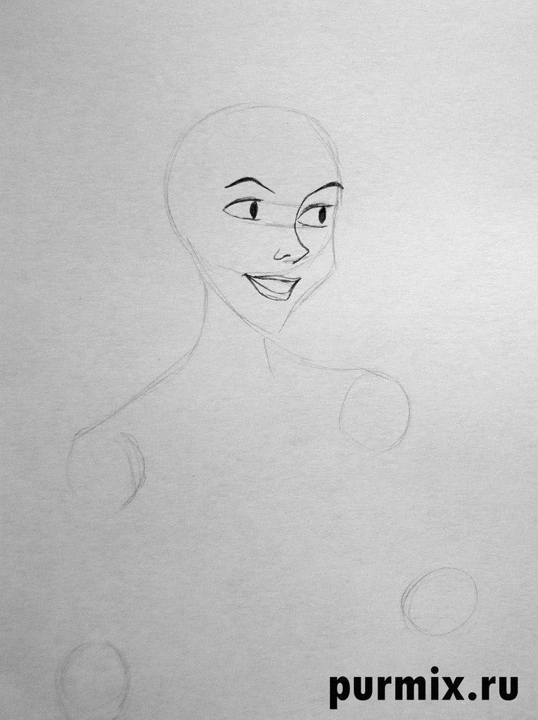 Рисуем Аниту из 101 далматинец простым