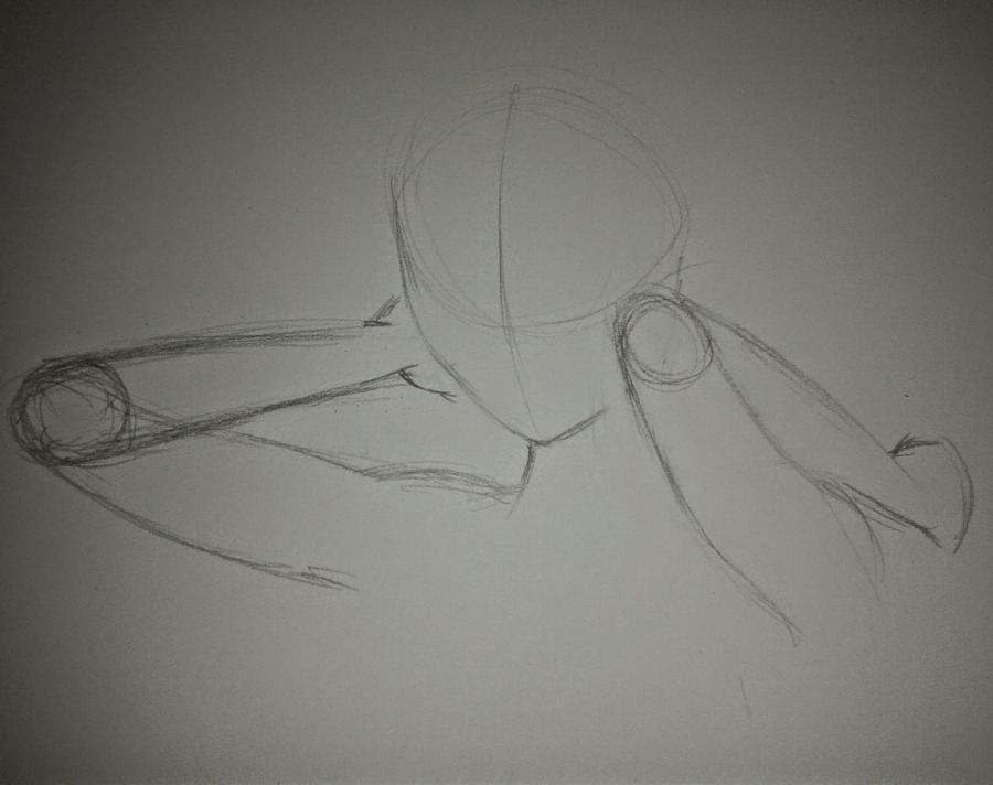 Рисуем Анну в стиле аниме - шаг 3