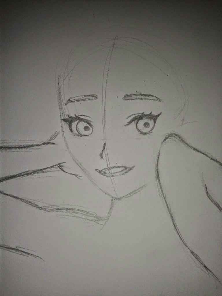 Рисуем Анну в стиле аниме - шаг 5