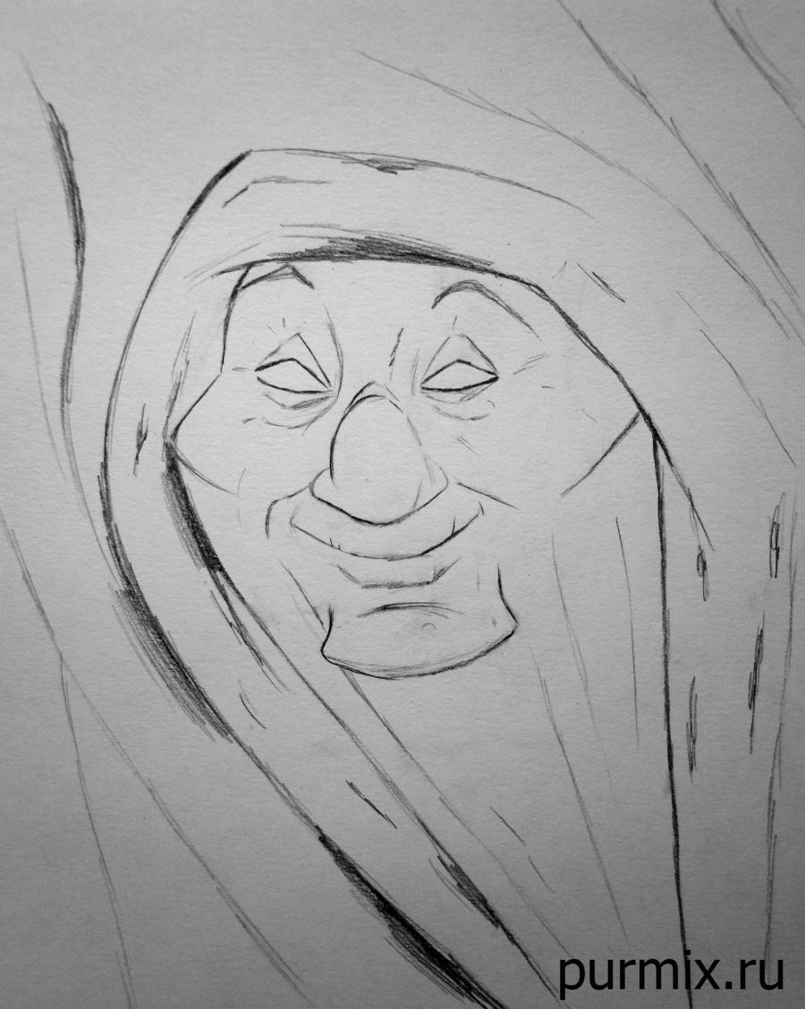 Рисуем бабушку карандашом поэтапно 104