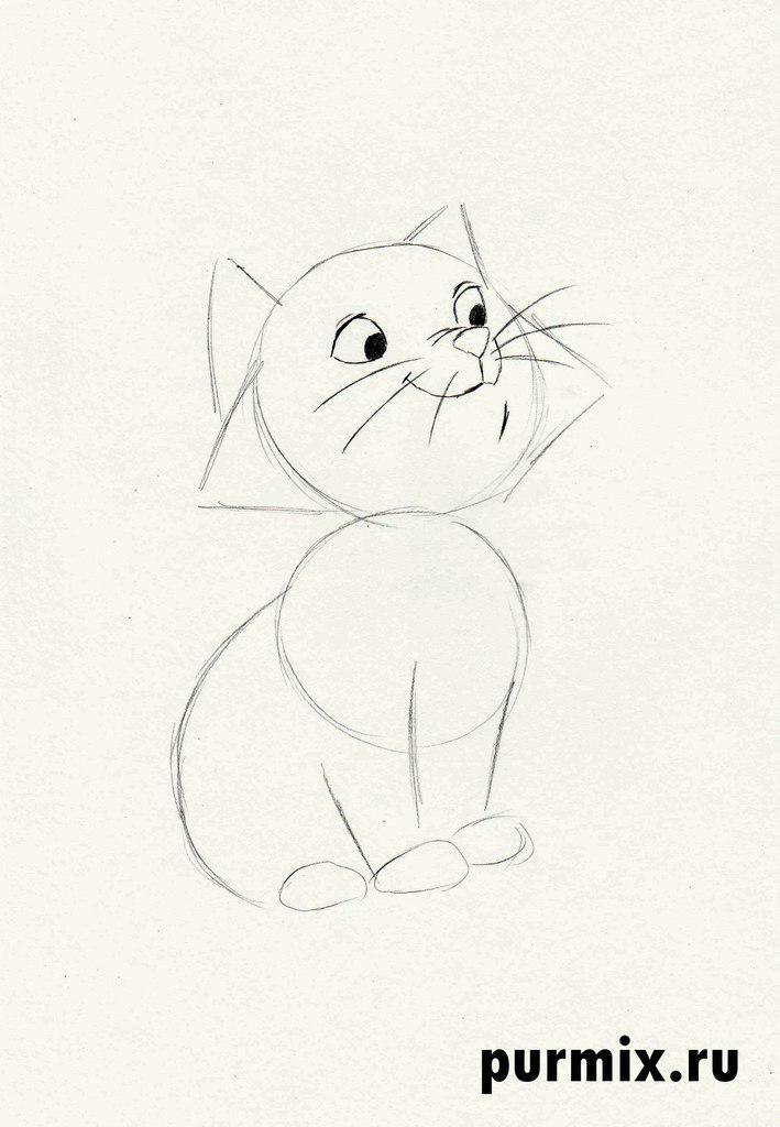 Рисуем Берлиоза из мультфильма Коты Аристократы