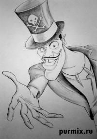 доктора Фасилье из Принцесса и лягушка карандашом
