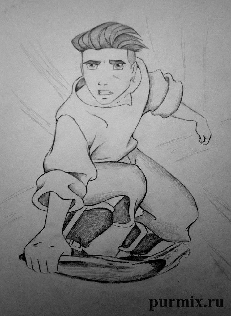 Рисуем Джима из Планета сокровищ простым