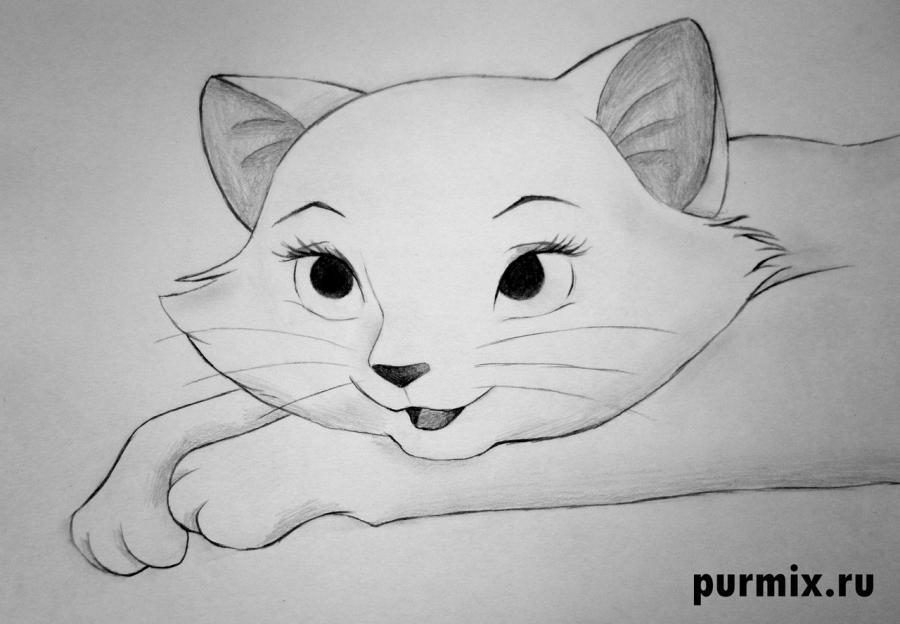 Рисуем Герцогиню из мультфильма коты Аристократы