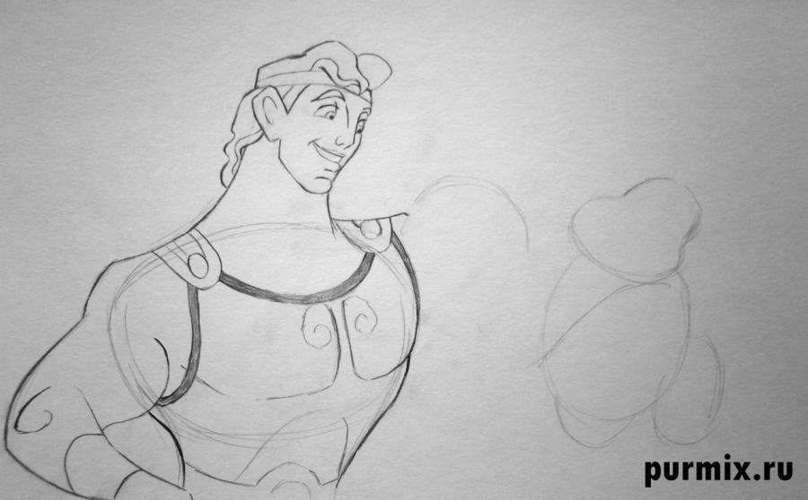 Как нарисовать Геркулеса и Фила простым карандашом поэтапно