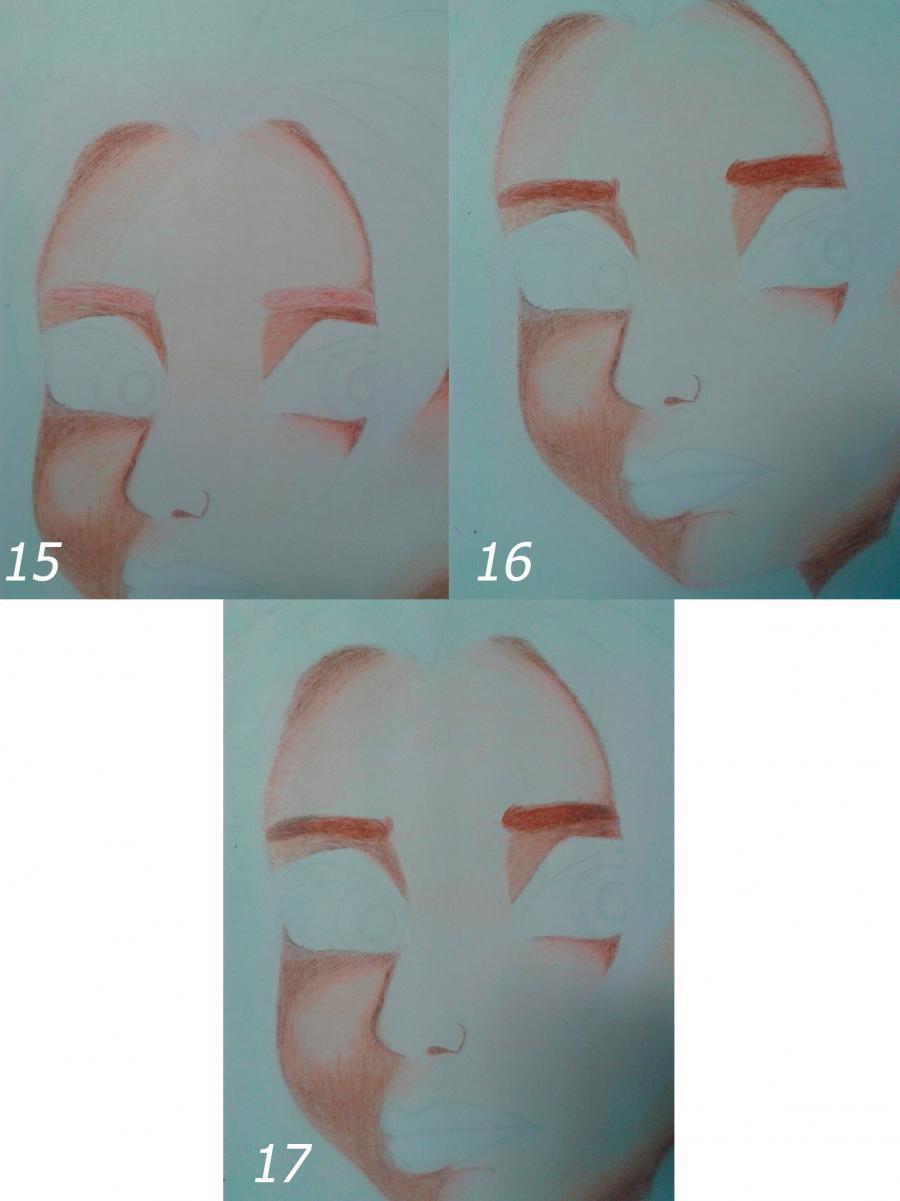 Рисуем Эльзу цветными карандашами - фото 10