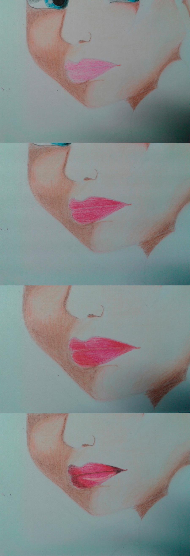 Рисуем Эльзу цветными карандашами - фото 14