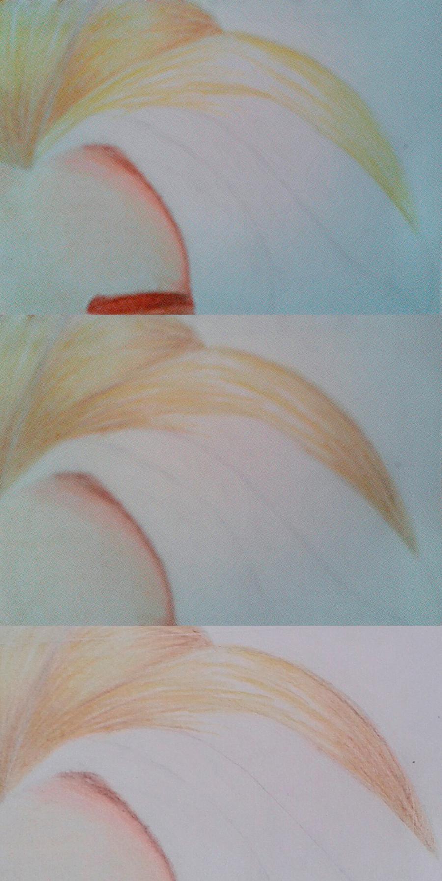 Рисуем Эльзу цветными карандашами - фото 15