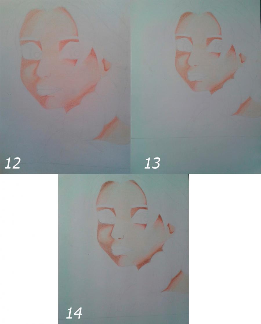 Рисуем Эльзу цветными карандашами - фото 9