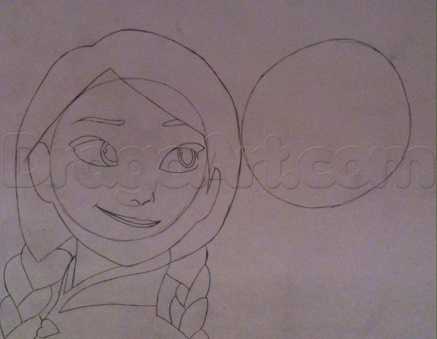 Рисуем Эльзу и Анну из Холодного сердца