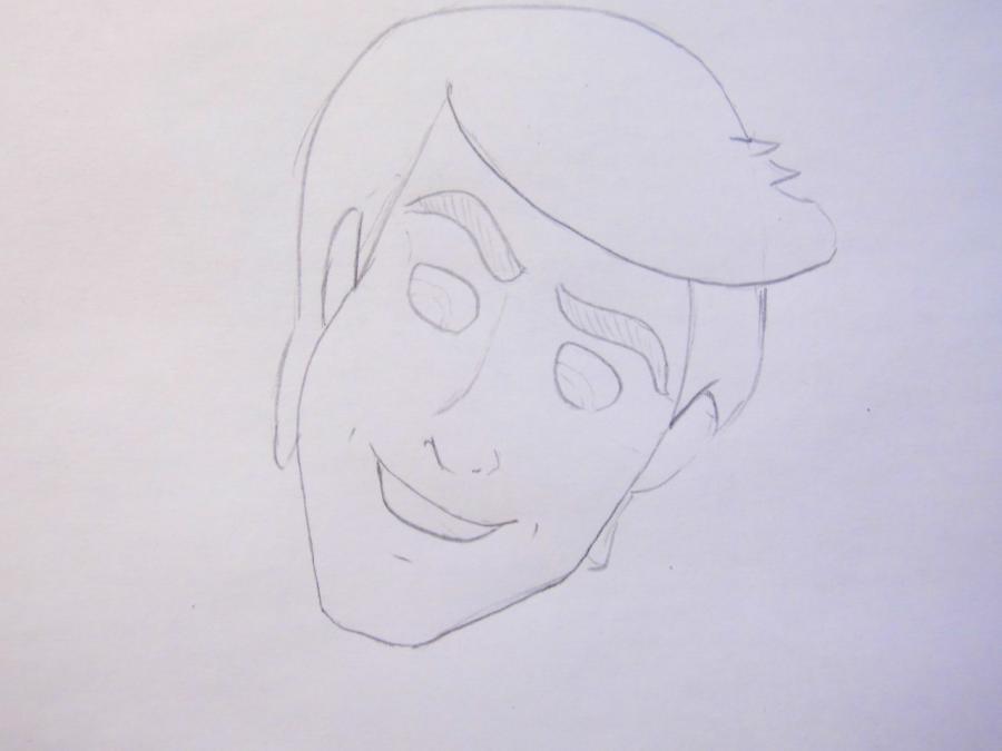 Рисуем русалочку из мультфильма