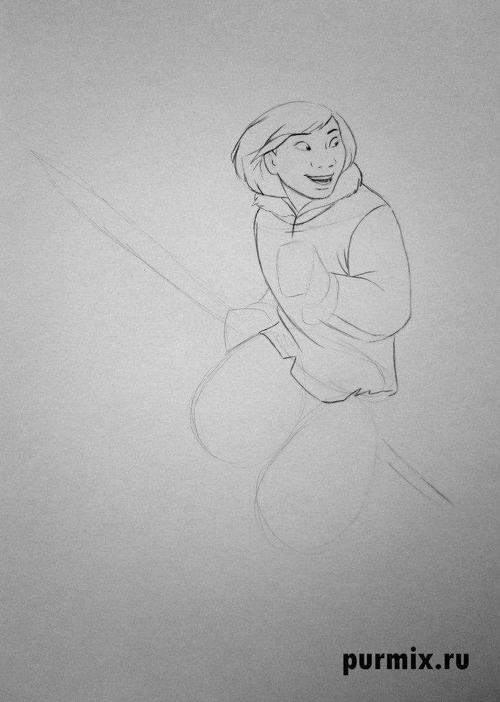 Рисуем Кеная человека из Братец медвежонок простым
