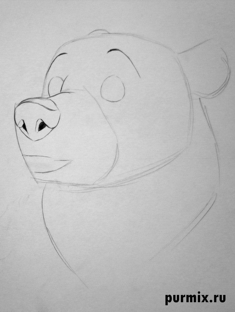 Рисуем Кеная из мультфильма Братец медвежонок