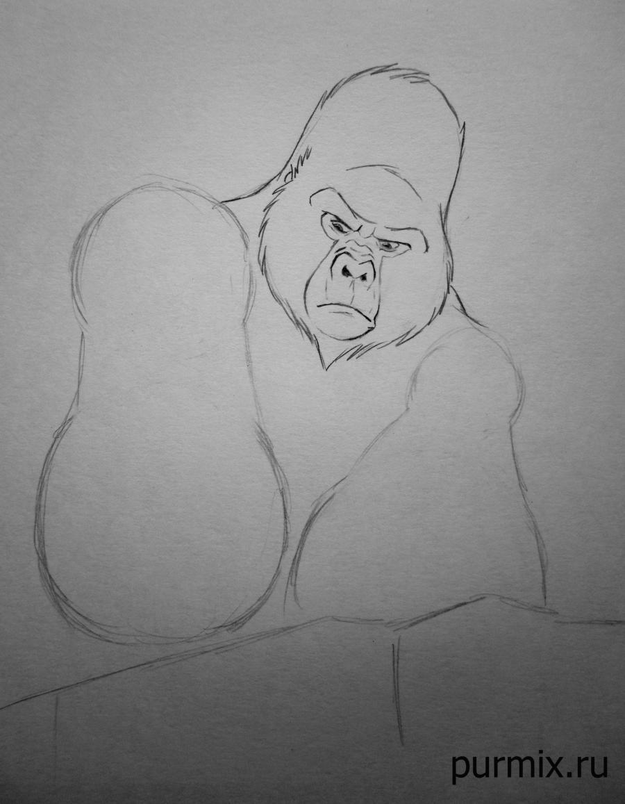 Рисуем Керчака из Тарзана простым