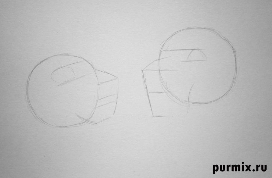 Как нарисовать Киару и Кову из Король лев-2: Гордость Симбы - шаг 1