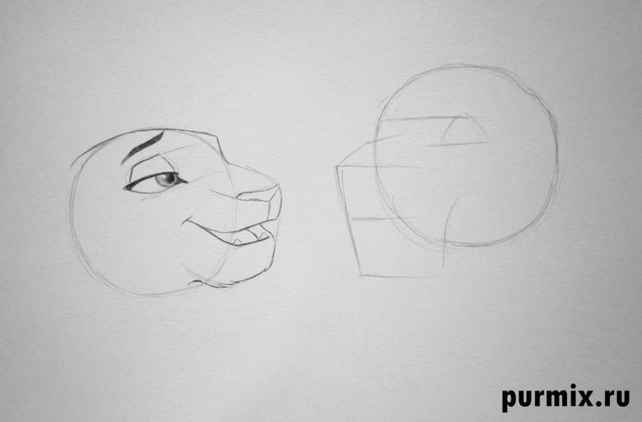 Как нарисовать Киару и Кову из Король лев-2: Гордость Симбы - шаг 2