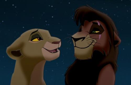 Рисуем Киару и Кову из Король лев-2: Гордость Симбы
