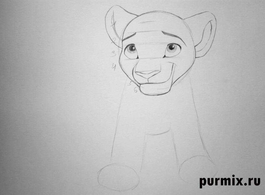 Рисуем Киару из Король лев 2: Гордость Симбы простым