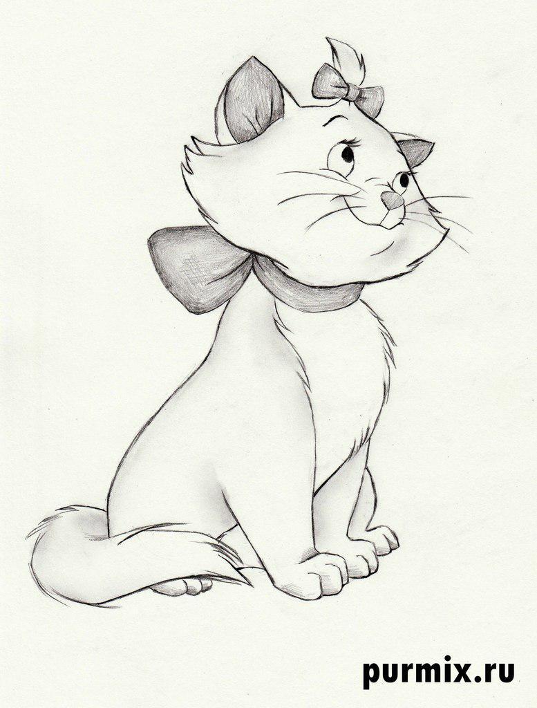 Коты аристократы как рисовать