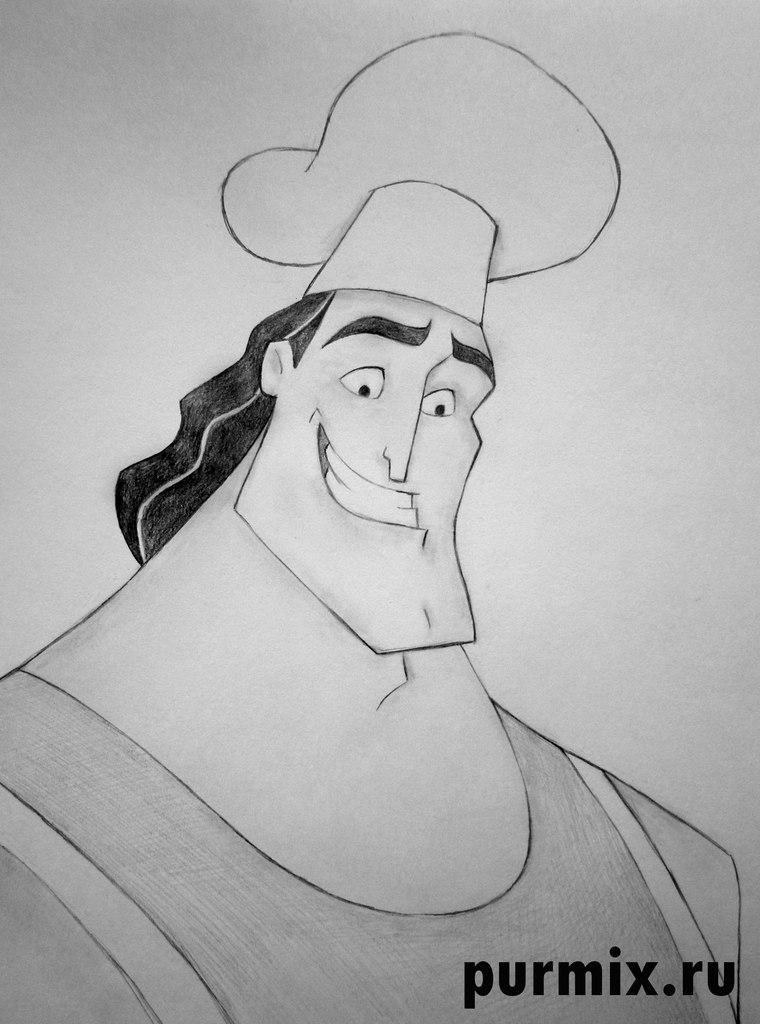 Рисуем Кронка из мультфильма Похождения императора