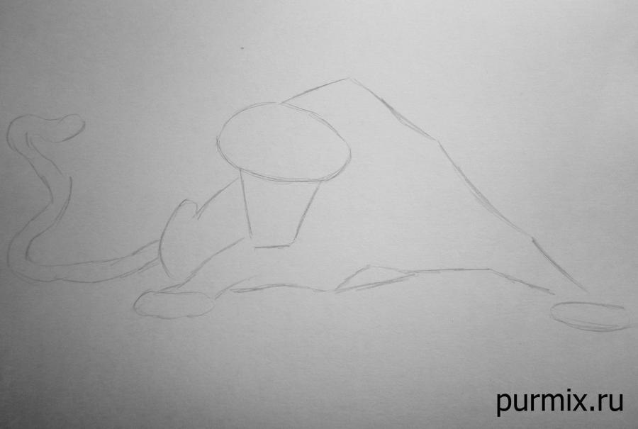 Рисуем леопарда Сабора из Тарзана простым