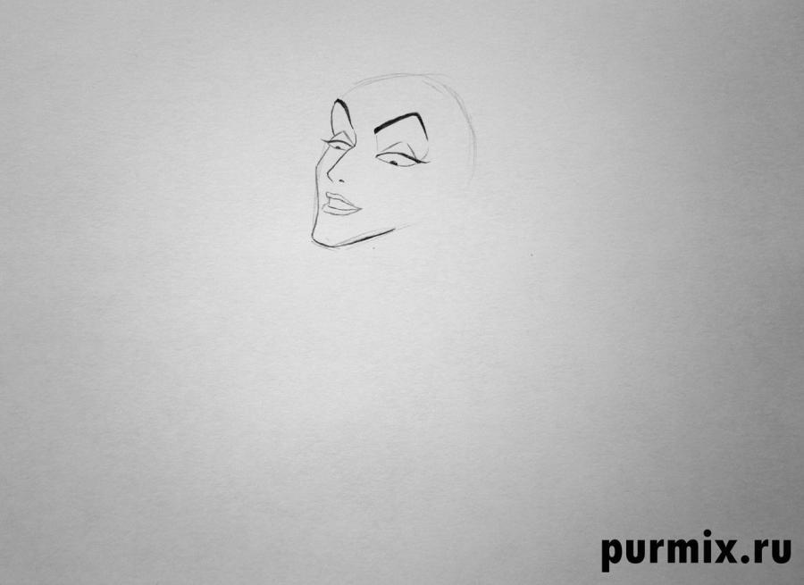 Учимся рисовать Малефисенту - шаг 2