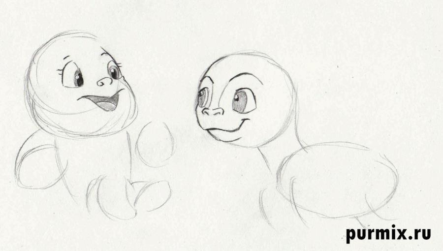 Рисуем маленьких Геркулеса и Пегаса