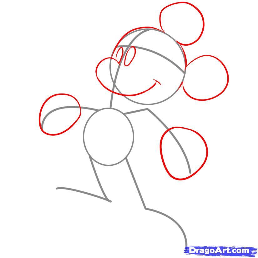 Рисуем Микки Мауса - фото 2