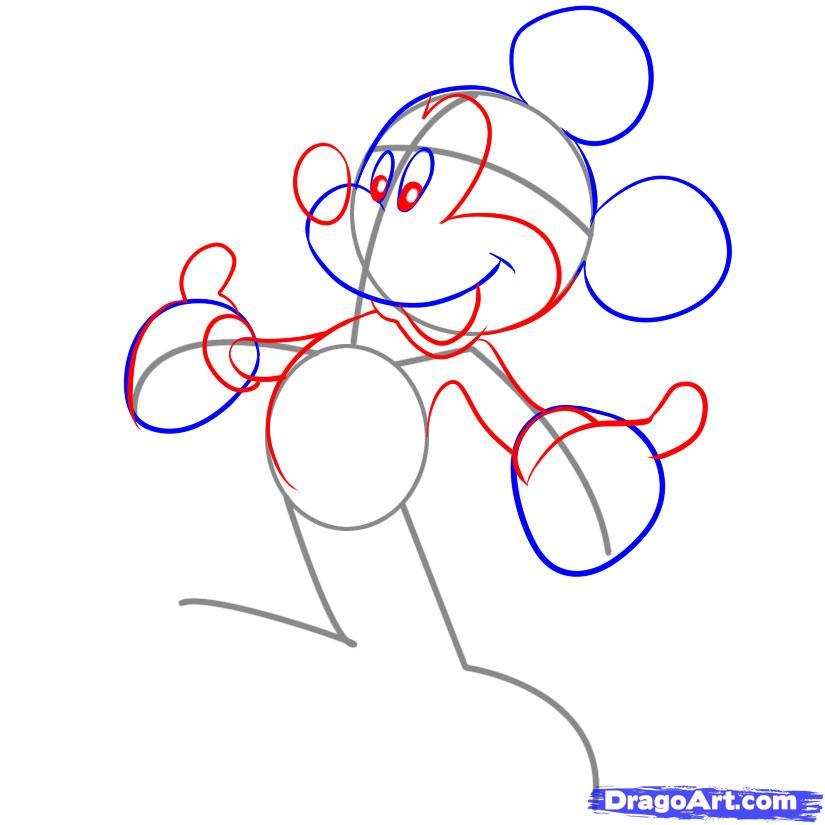 Рисуем Микки Мауса - фото 3