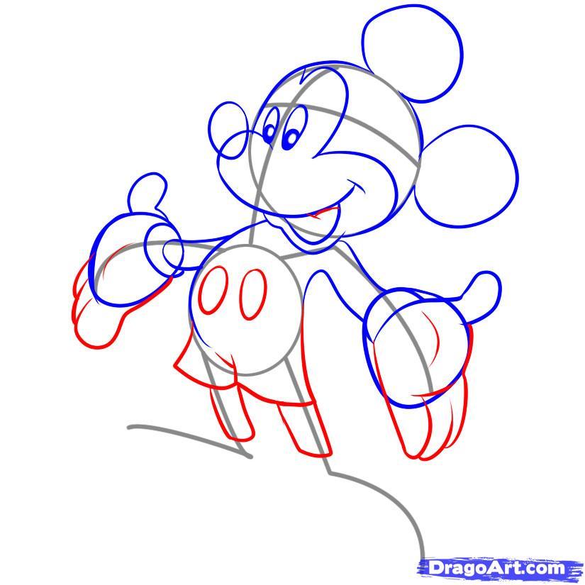 Рисуем Микки Мауса - фото 4