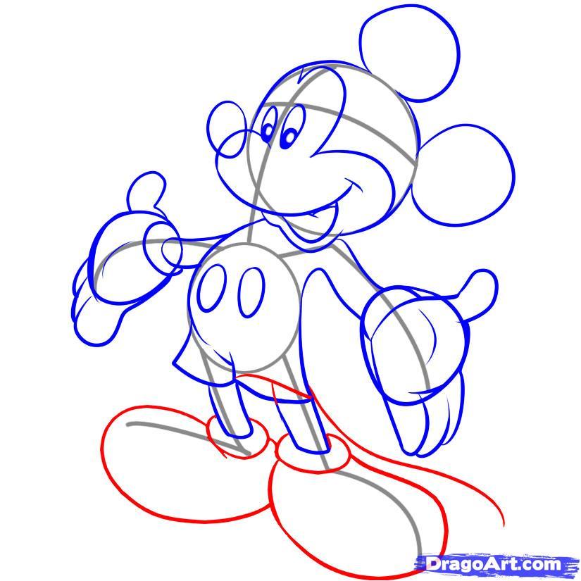 Рисуем Микки Мауса - фото 5