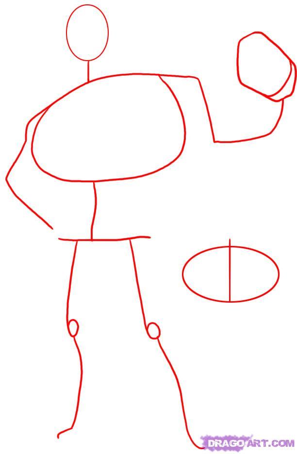 Как нарисовать Mr Incredible из Суперсемейка карандашом поэтапно