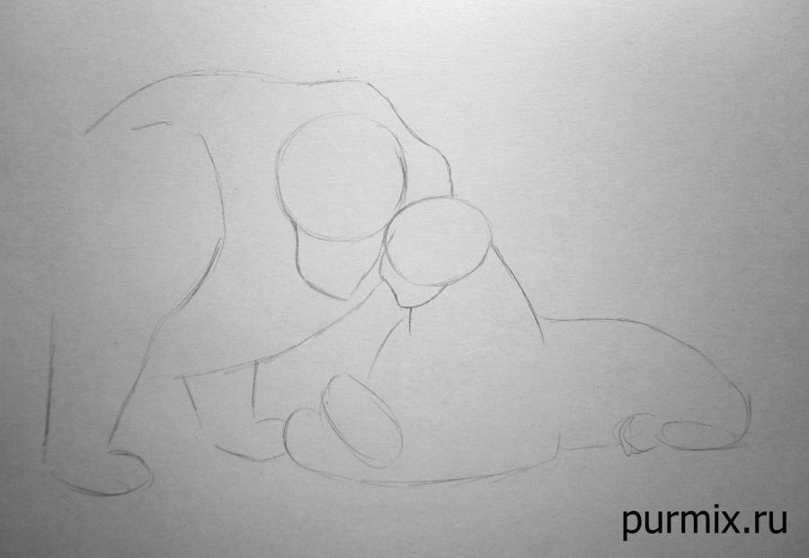 Рисуем Муфасу и Сараби из Король лев простым