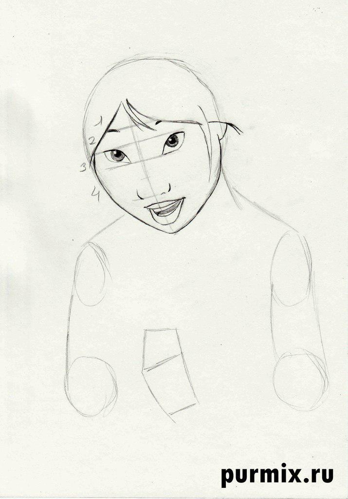 Рисуем Ниту из Братец медвежонок 2 простым