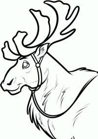 Как нарисовать оленя Свена из Холодное сердце карандашом