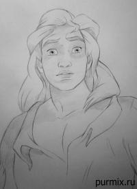 Фото принца Адама из Красавица и Чудовище простым карандашом