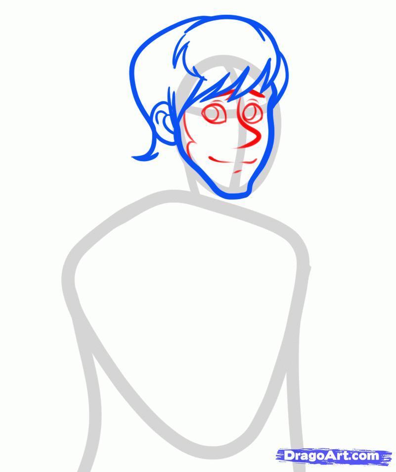 Рисуем принца Ханса из Холодного сердца