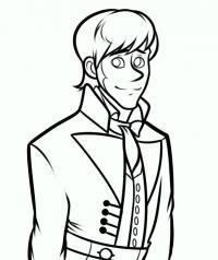 Как нарисовать принца Ханса из Холодного сердца карандашом