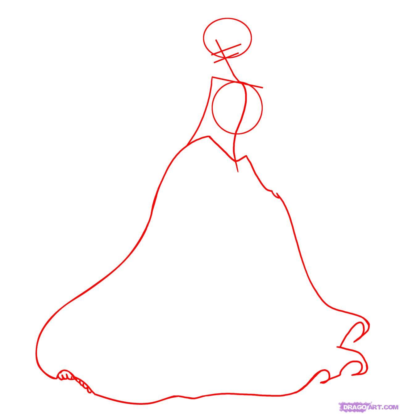 Рисуем принцессу Тиану - шаг 1