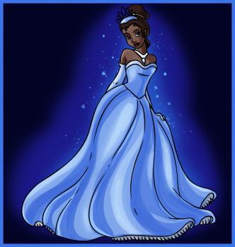 Как нарисовать Принцессу Тиану карандашом поэтапно aa592063d1d3c